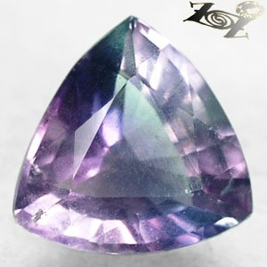 9.8 CT.Natural Trillion 14 mm Intense Purple Blue Green Zone Vietnam Fluorite ��