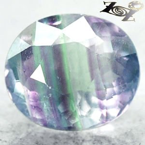 7.84 CT.Natural Oval 11*12.5 mm Crystal White Purple Green Layers Fluorite ��