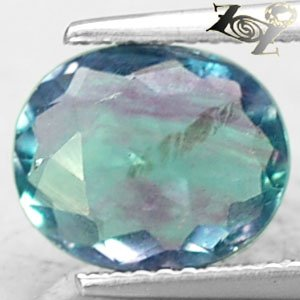 3.31 CT.Natural Oval 8*10 mm. Blue Green Purple Zone Clear Vietnam Fluorite Gems