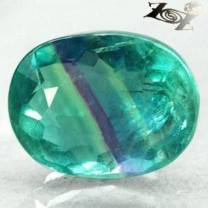 8.32 CT.Natural Oval 10*13 mm. Intense Green Purple Blue John Color Fluorite ��
