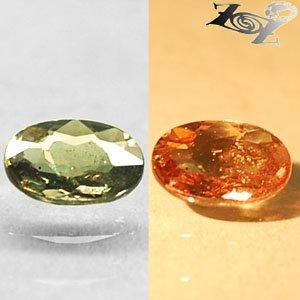 Firely Natural Oval 5*6 mm. Lemon Green Tanzania Color Change Garnet 0.61 CT.Gem