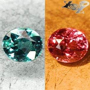 Full Fire VVS1 Natural Oval 4*5 mm.Blue Green Color Change Garnet 0.56CT �����榴�