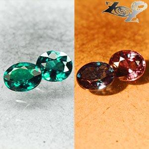 Pair VVS Natural Oval 3.5*4 mm.Vivid Blue Green Color Change Garnet 0.63 CT.Gems
