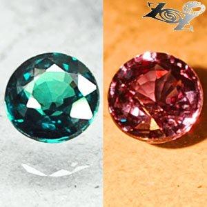 IF Natural Round 4.5mm.Green Blue Nandagala Color Change Garnet 0.52 CT. �����榴�