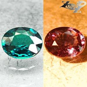 VVS1 Natural Oval 4.5*5.5 Vivid Blue Green Nandagala Color Change Garnet 0.58 CT