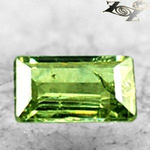 Firely Natural Emerald 3.5*6 mm. Red Spark Lemon Green Demantoid Garnet 0.54 Ct.
