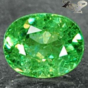 Natural Oval 5*6.5 mm.Red Spark Intense Green Andradite Demantoid Garnet 1.13 CT