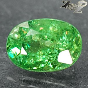 Natural Oval 5.5*8 mm.Red Spark Intense Green Andradite Demantoid Garnet 1.39 CT