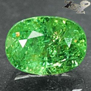 Natural Oval 5*7 mm.Red Spark Intense Green Andradite Demantoid Garnet 1.3 CT.