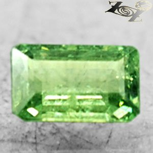 Firely Natural Emerald 4*6 mm Red Spark Green Andradite Demantoid Garnet 0.75 CT