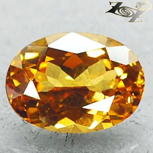 2.48 CT.Certified Full Fire VVS Natural Oval 7*10 Vivid Canary Yellow Hessonite