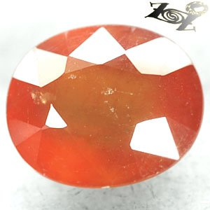 10.53 CT.Natural Oval 11.5*13.5 mm. Mandarin Orange Tanzania Hessonite Garnet