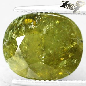10.87 CT.Natural Oval 11.5*13.5 mm. Olive Green Africa Grossular Mali Garnet Gem