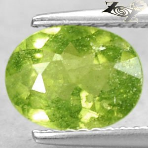 Rare Quality Natural Oval 7*9 mm. Green Canada Hydrogrossular Garnet 1.65 CT.Gem