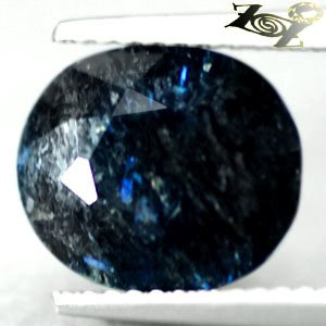 4.39 CT.Natural Oval 9*11 mm.Titanium Blue Schiller Streaks Mauritania Jenakite