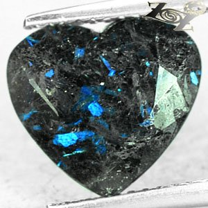 3.61 Ct.Rare Natural Heart Titanium Blue Schiler Steaks Jenakite Nuummite Gems