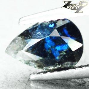 Natural Pear 6.5*9.5 mm. Bright Titanium Blue Schiller Streaks Jenaktie 1.56 CT.
