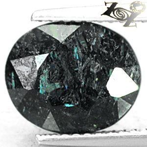 3.85 CT.Natural Oval 9*11 mm. Titanium Blue Green Schiller Streaks Jenakite Gems