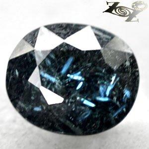 4.43 CT.Natural Oval 9.5*11 mm. Titanium Blue Scheen Streaks Whole Jenakite Gems