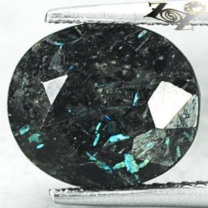 5.02 CT.Natural Oval 10*11.5 mm Titanium Blue Schiller Streaks Whole Jenakite