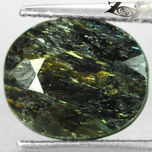 5.97 Ct.Natural Oval 10*12 mm. Gold Schiller Streaks Whole Mauritania Nuummite