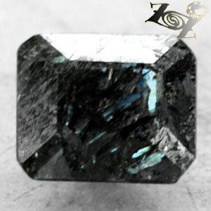 2.72 CT.Natural Emerald 7*8.5 mm. Titanium Green Blue Schiller Streaks Jenakite