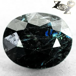 3.28 CT.Natural Oval 8.5*10.5 mm. Titanium Blue Scheen Streaks Jenakite Nuummite