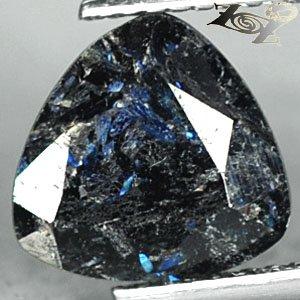 3.23 Ct.Rare Natural Trillion 9mm Titanium Blue Schiler Steaks Jenakite Nuummite