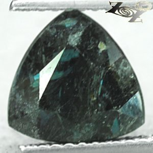 2.12 CT.Natural Trillion 9 mm. Titanium Blue Green Schiller Streaks Jenakite Gem