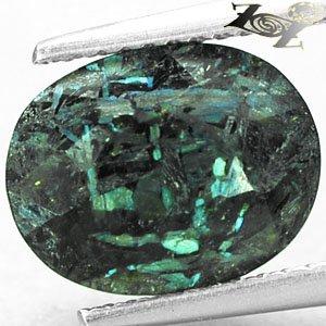 4.07 CT. Natural Oval 9*11 mm. Titanium Blue Schiller Streaks Whole Jenakite Gem