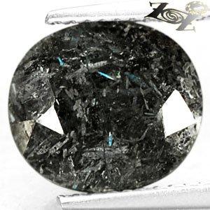 4.96 Ct.Natural Oval 10*11 mm. Titanium Blue Schiller Streaks Whole Jenakite Gem