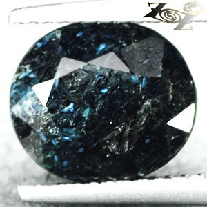 3.16 CT.Natural Oval 8.5*10 mm. Titanium Blue Schiller Streaks Whole Jenakite