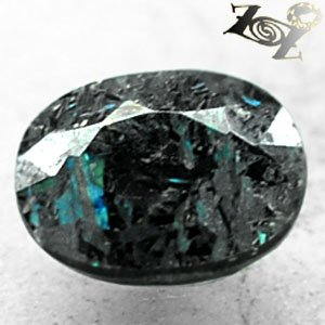 2.85 CT.Natural Oval 7.5*10 mm Titanium Green Blue Schiller Streaks Jenakite Gem