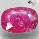 11.09 CT.Natural Oval 13*17mm. Intense Hot Pink Red Nigeria Rubellite Tourmaline