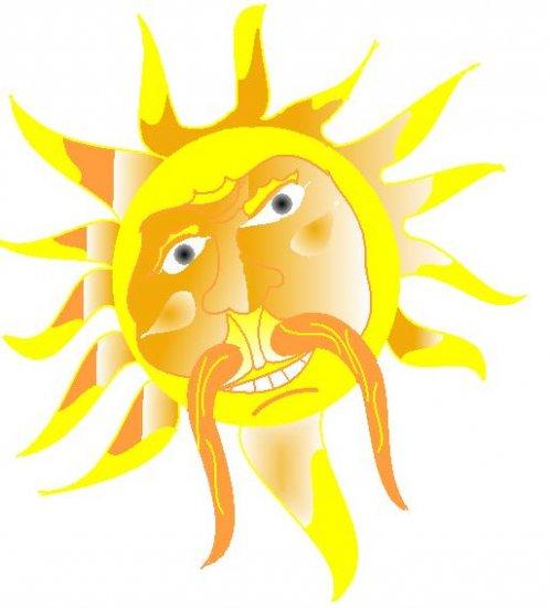 Sun Pissed tattoo design flash art