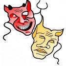 CINEMA MASK tattoo design flash art