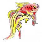 FANTAIL FISH design tattoo flash art