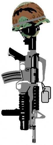 Fallen Soldier Tattoo Design Flash Art