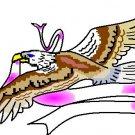 RIBBON EAGLE 1 tattoo design flash art