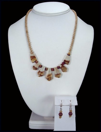 Handcrafted Picture Jasper Necklace