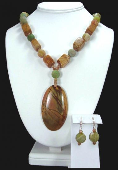Multi-Color Picasso Jasper Necklace Handcrafted