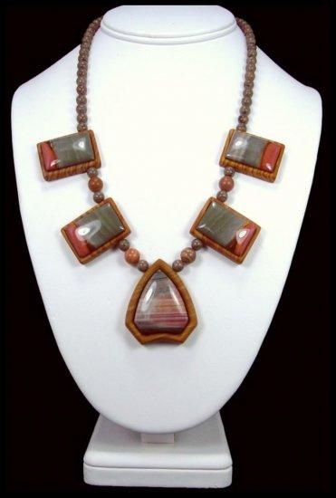 Handcrafted Sucor Creek Jasper Intarsia Necklace