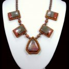 Handcrafted Sucor Creek Jasper Intarsia Necklace