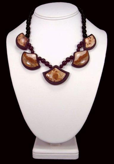 Multi-Gem Intarsia Necklace