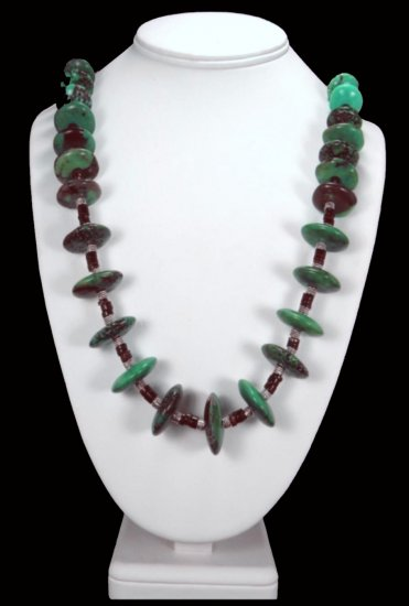 African Turquoise Handcrafted Heishi Necklace