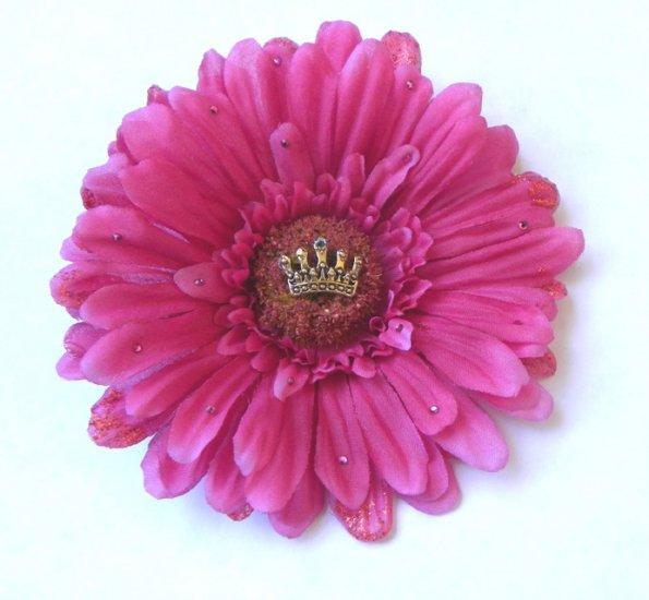Pink Princess Hair Flower Pink Rockabilly