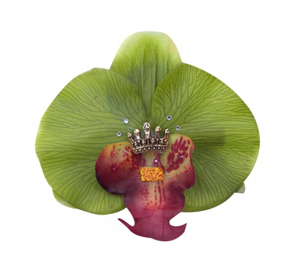 Royal Ghoul Green Orchid Hair Clip