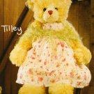 """Tilley 23"""", Rose Scented Bear by Settler Bears"""