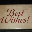 Best Wishes  Large Wood Mounted  Rubber Stamp
