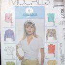 MCCALLS  9277 MISSES' TOPS